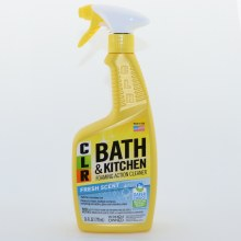 CRL Bath  and  Kitchen Cleaner with Foaming Action Safe for Everyday Use Cleans  and  Shines Multiple Surfaces including Porcelain Glass  and  Stainless Steel Fresh Scented
