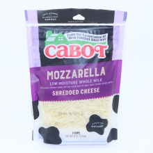 Cabot Mozzarella Shredded Cheese Low Moisture Whole Milk 8 oz
