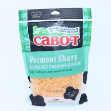 Cabot Vermont Sharp Shredded Cheddar Cheese  8 oz