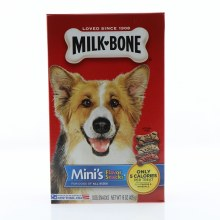 Milk Bone Mini's Dog Treats, For All Dogs of All Sizes, Only 5 Calories per Treat, Includes Beef, Chicken, and Bacon Flavor 15 oz