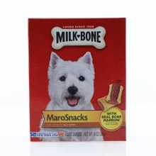 Milk Bone MaroSnacks For Dogs of All Sizes, Made with Real Bone Marrow with Calcium 10 oz