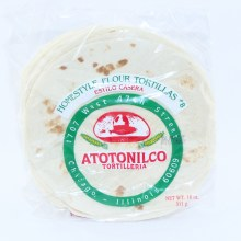 Atotonilco Homestyle Flour Tortillas. 18 oz.  18 oz