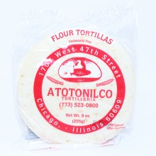 Atotonilco Four Tortillas Cholesterol Free. 9 oz.
