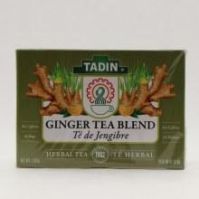 Tadin Ginger Tea Blend Herbal Tea No Caffeine 24 bags 1.02 oz