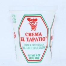 El Tapatio Crema Cultured Sour Cream 16oz.