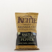 Kettle Krinkle Cut Sea Salt  and  Ground Pepper