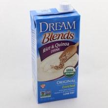 Dream Blends Rice & Quinoa Drink Original Flavor, USDA Organic, Non GMO, Gluten Free, Low Fat 32 oz