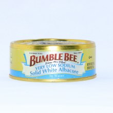 Bumble Bee, Solid White Albacore in Water, Very Low Sodium, Gluten Free 5 oz