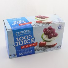 Capri Sun Fruit Punch  Juice