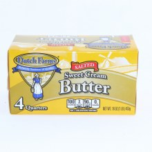 Dutch Farms Salted Sweet Cream Butter 4 Quarters  16 oz