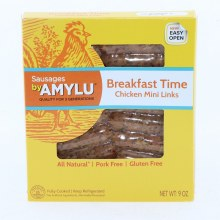 Amylu Breakfast Time Chicken Mini Links All Natural Pork Free and Gluten Free