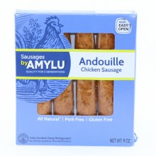 Amylu Andouille Chicken Sausage All Natural Pork Free and Gluten Free