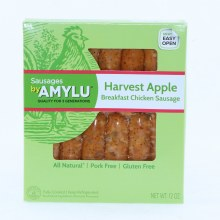 Amylu Harvest Apple Breakfast Chicken Sausage All Natural Pork Free and Gluten Free