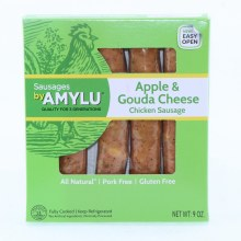 Amylu Apple  and  Gouda Cheese Chicken Sausage All Natural Pork Free and Gluten Free