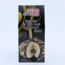Vanilla  and  Sea Salt Caramel Gelato Truffle