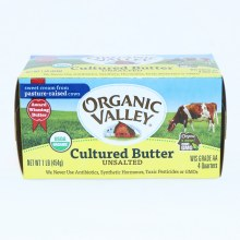 Organic Valley Unsalted Cultured Butter 16 oz