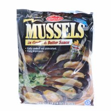 Wholey Mussels in Garlic & Butter Sauce, 1LB 1 lb