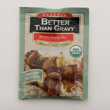 Better Than Gravy Organic Brown Gravy Mix, Made With Organic Beef Stock, USDA Organic 1 oz