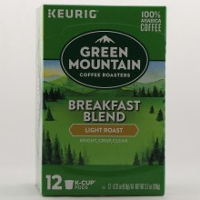 Keurig Green Mountain Breakfast Blend Light Roast Coffee