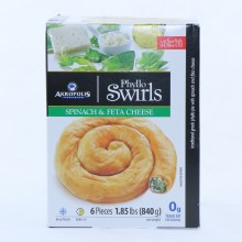 Akropolis Phyllo Swirls Spinach and Feta Cheese