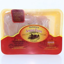 Gerber Amish Boneless Skinless Chicken Breast 16 lb