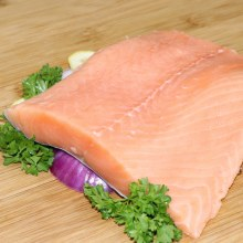 Norway Salmon Fillets  First Cut Atlanitc Salmon  Season with your Choice of Herbs and Oven Bake for a Delicious Taste 1 lb