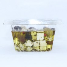 Feta Cubes in Olive Oil with Olives