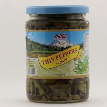 VG thin roasted peppers 19 oz