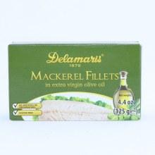 Delamaris Mackerel Fillets in Extra Virgin Olive Oil No Additives or Preservatives Gluten Free 4.4 oz
