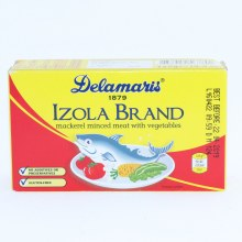 Delamaris Izola Brand Mackerel Minced Meat with Vegetables No Additives or Preservatives Gluten Free 4.4 oz