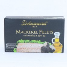 Delamaris Mackerel Fillets with Truffles in Olive Oil No Additives or Preservatives Gluten Free 4.4 oz