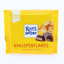 Ritter Sport, Knusperflakes, Milk Chocolate with Cornflakes 3.53 oz