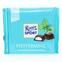 Ritter Sport, Pfefferminz, Milk Chocolate with Peppermint 3.53 oz
