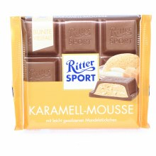 Ritter Sport, Karamell-Mousse, Milk Chocolate with Carmel-Mousse 3.5 oz