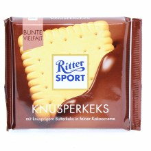 Ritter Sport, Knusperkeks, Milk Chocolate with Butter Biscuits 3.53 oz