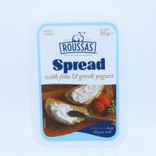 Roussas Spread with Feta  and  Greek Yogurt Made with Sheep  and  Goat Milk