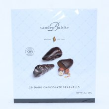 Vanden Bulcke Dark Chocolate Seashells, Made with 100% Cocoa Butter 8.8 oz