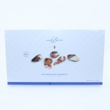 Vanden Bulcke Chocolate Seashells with Hazelnut Filling, Made with 100% Cocoa Butter  17.6 oz