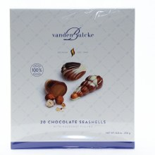 Vanden Bulcke Chocolate Seashells with Hazelnut Filling, Made with 100% Cocoa Butter 8.8 oz