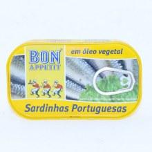 Bon Appetit Sardines in Vegetable Oil 4.23 oz