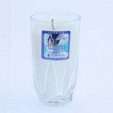 Veladora Cristal Liso Blanco con Aroma 1 ct