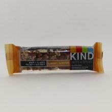 Kind Nut  and  Spices Maple Glazed Pecan And Sea Salt Bar 5g Sugar 5g Protein Gluten Free Dairy Free Low Sodium No  Genetically Engineered Ingredients