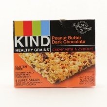 Kind Healthy Grains Peanut Butter Dark Chocolate Granola Bars Gluten Free 100Per Cent Whole Grains No Genetically Engineered Ingredients With 5 Super Grains Oats Millet Buckwheat Amaranth Quinoa