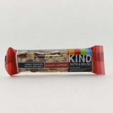 Kind Nut & Spices Honey Roasted Nuts And Sea Salt Bar 5g Sugar 6g Protein Gluten Free Dairy Free Low Sodium No Genetically Engineered Ingredients