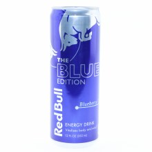 Red Bull The Blue Edition  Blueberry Flavor  12 fl. oz.