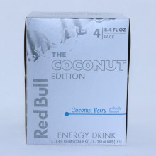 Red Bull The Coconut Edition  Coconut Berry Flavor  4  8.4 Fl. Oz. Pack