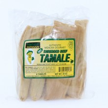 Pancho's Authentic Mexican Gourmet Shredded Beef Tamales, Hot, Pack of 6 Tamales