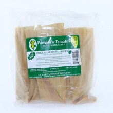 Panchos Pork & Jalapeno Pepper Tamales Hot Pack of 6 Tamales 20 oz