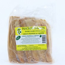 Panchos Green Pepper  and  Cheese Tamales Hot Pack of 6 Tamales 20 oz
