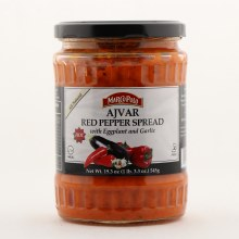 Marco Polo Ajvar Red Pepper Spread w Eggplant & Garlic 19.3 oz